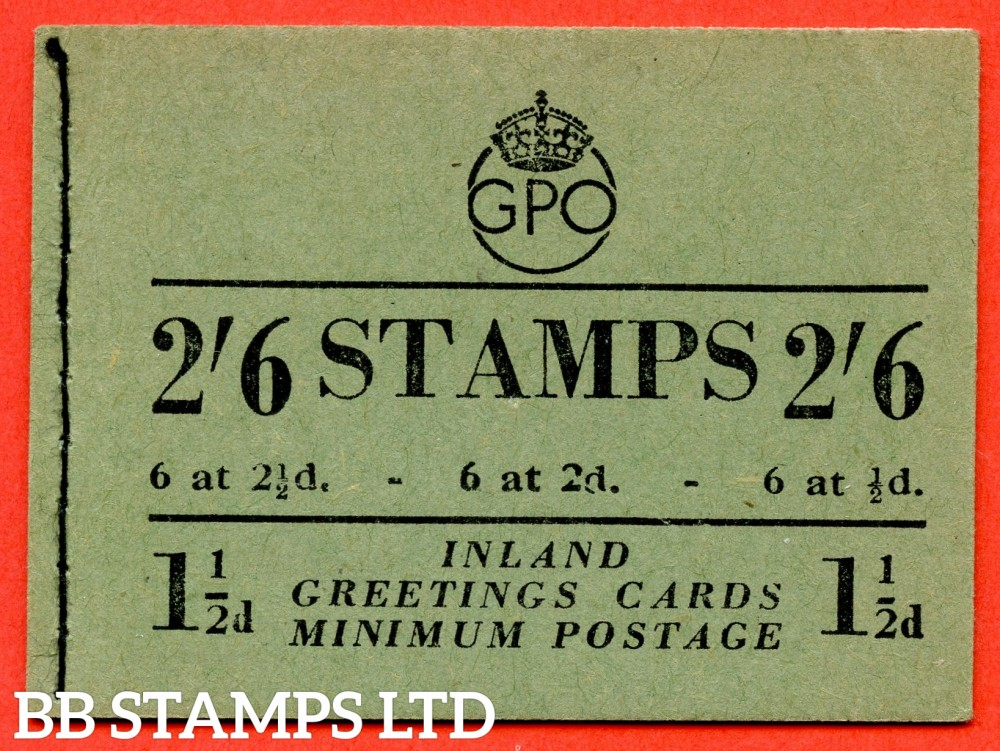 "SG. BD19 (9). "" 2/6 "". Edition number 9. January 1952. A very fine complete example of this George VI booklet."
