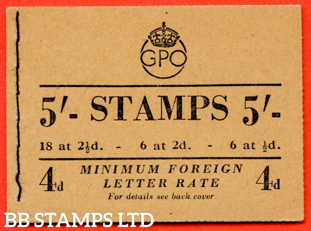 """SG. BD30 (1). """" 5/- """". Edition number 1. May 1951. George VI. A very fine example of this George VI booklet."""