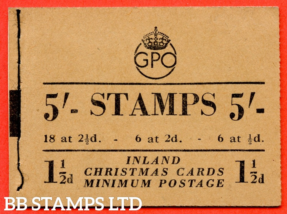 """SG. BD30 (4). """" 5/- """". Edition number 4. November 1951. George VI. A very fine example of this George VI booklet."""