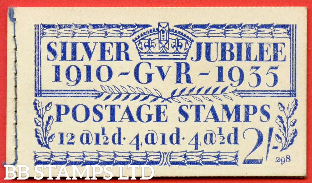 "SG. BB16. "" 2/- "". Edition number 298. A fine complete example of this popular 1935 Silver Jubilee booklet."