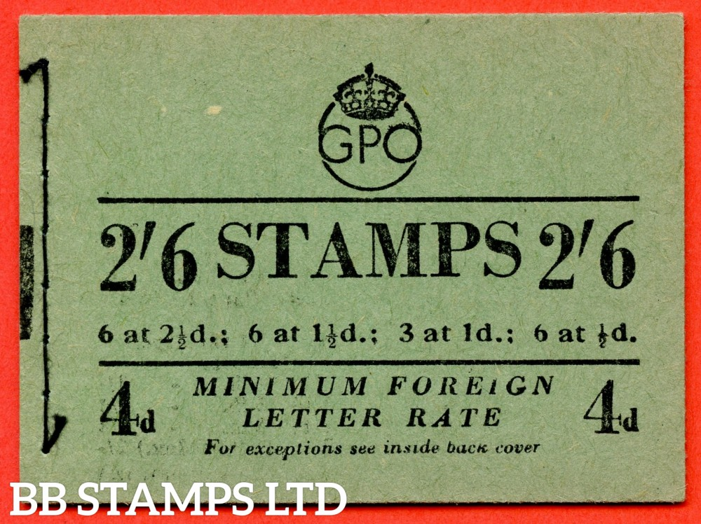 """SG. BD20. """" 2/6 """". Edition number 10. December 1952. A very fine complete example of this George VI booklet."""