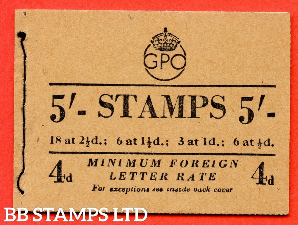 """SG. BD31 ( 5 ). """" 5/- """". November 1952. George VI. A very fine example of this George VI booklet."""
