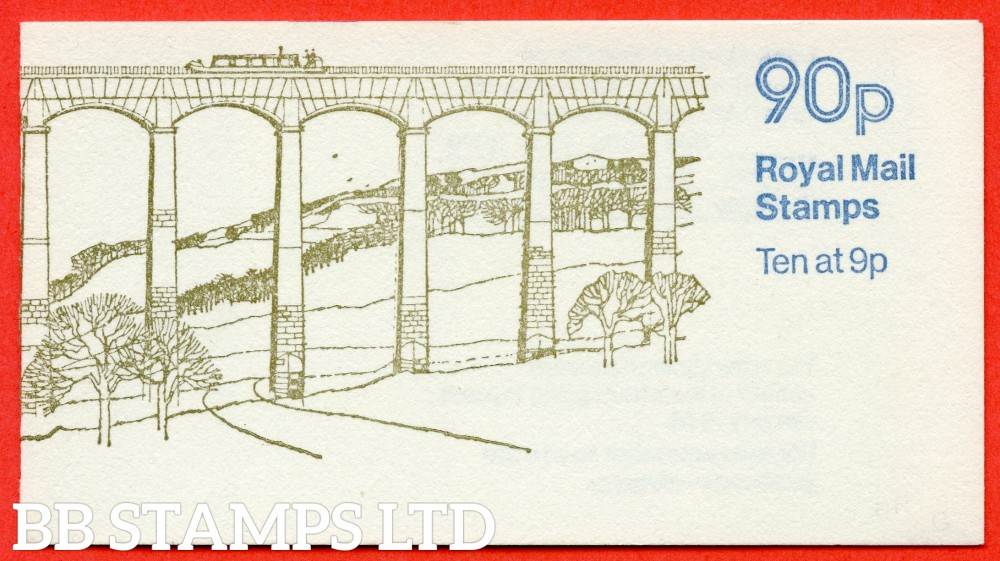 SG. FG3b. 90p Llangollen RIGHT MARGIN. A very fine example of this scarce QEII Booklet.