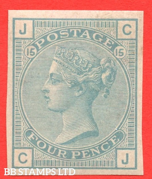 "SG. 153. J64. "" CJ "". 4d light sage. Plate 15. A very fine UNMOUNTED MINT example of this COLOUR TRIAL."
