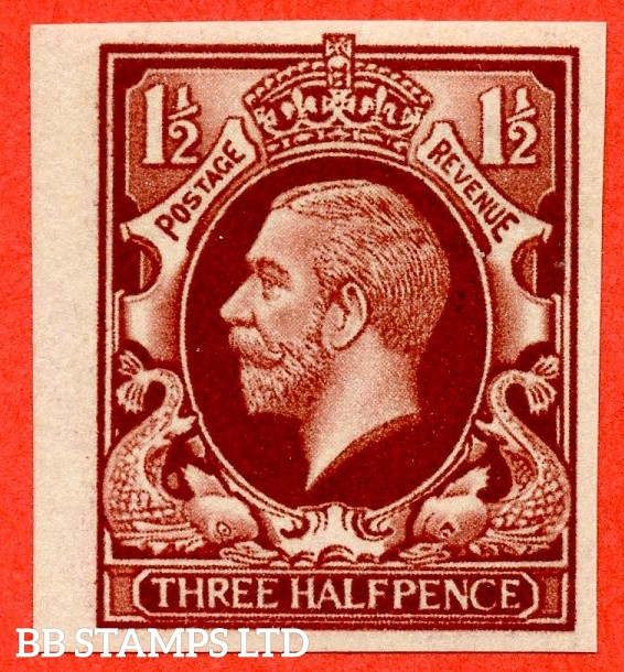 SG. 441 variety.1934 Photogravure 1½d Red- Brown Colour Trial. A very fine UNMOUNTED MINT example.