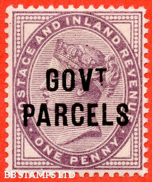 SG. 069. L23. 1d Lilac ( Die II ). Govt. Parcels. A superb UNMOUNTED MINT example. A scarce stamp unmounted.