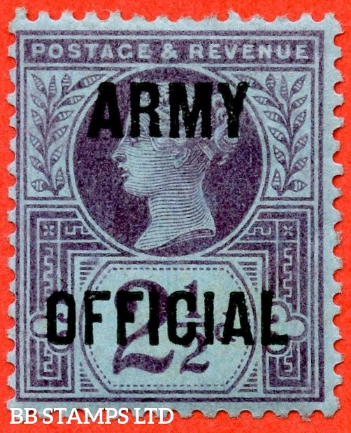 SG. 044. L39. 2½d purple on blue paper. Army Official.  A fine mounted mint example.