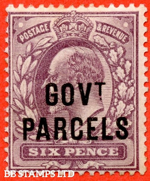 SG. 076. MO11. 6d Pale dull - purple. Govt. Parcels. A superb UNMOUNTED MINT example.