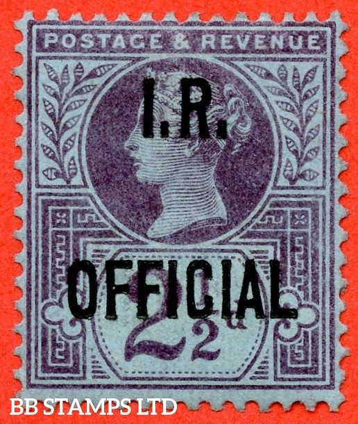 SG. 014. L14. 2½d purple / blue. I.R Official. A fine mounted mint example.