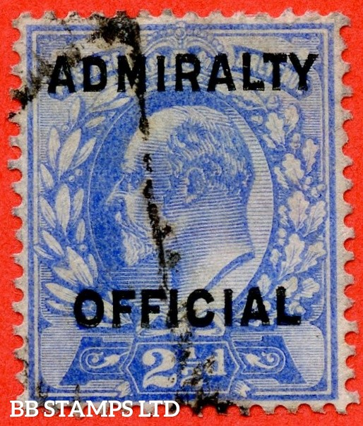 SG. 0111. MO40. 2½d Ultramarine Admiralty official Type II. A good used example of this very scarce stamp.