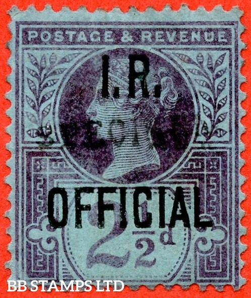 SG. 014 s. L14 s. 2½d purple / blue. I.R Official. A fine mounted mint example overprinted SPECIMEN type 9.