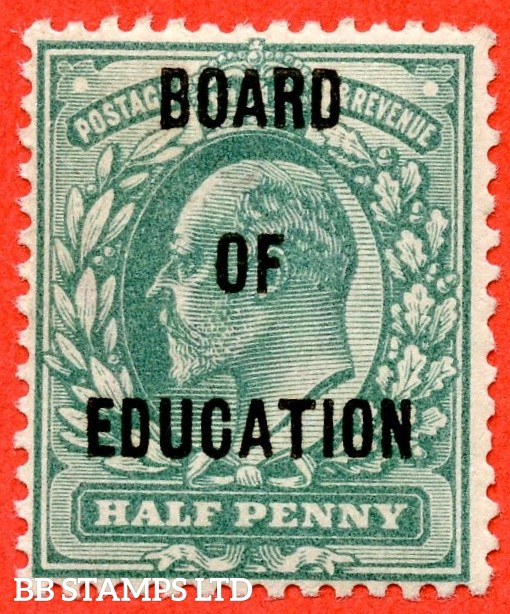 SG. 083. MO23. ½d Blue - Green. BOARD OF EDUCATION. A very fine lightly mounted mint example of this difficult Official.