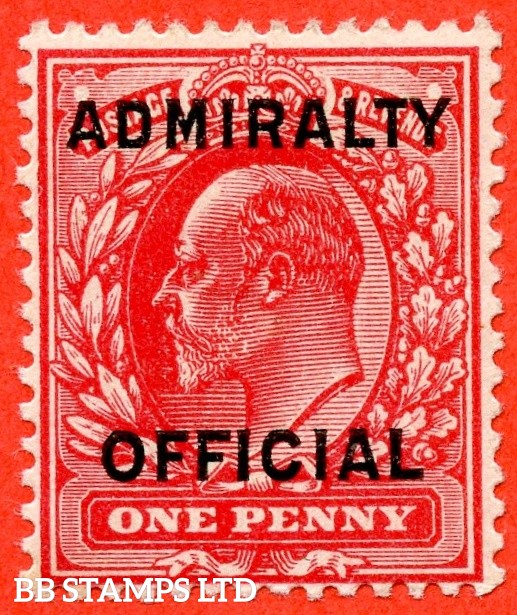 SG. 0102.  MO31. 1d scarlet. Admiralty Official. Type 1. A superb UNMOUNTED MINT example.
