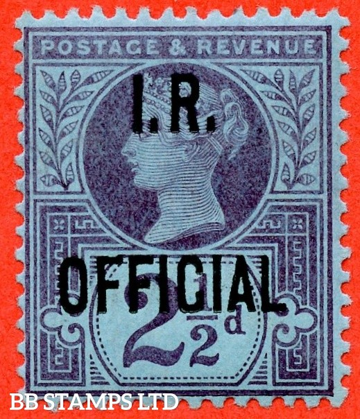 SG. 014. L14. 2½d purple / blue. I.R Official. A super UNMOUNTED MINT example.