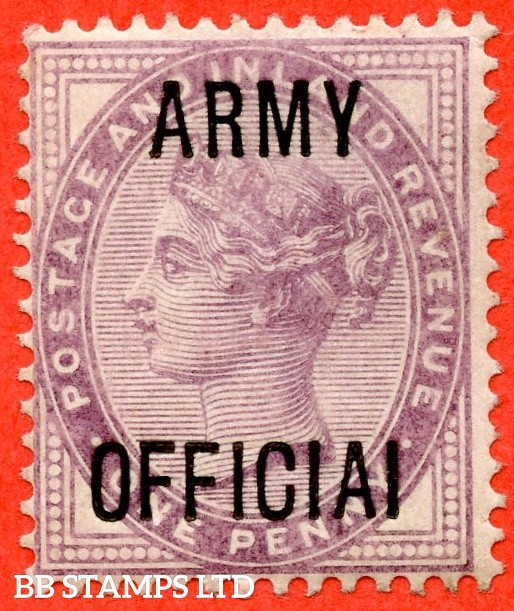 """SG. 043 a.L38 c. 1d Lilac. """" ARMY OFFICIAI """". A superb UNMOUNTED MINT example clearly showing the variety."""