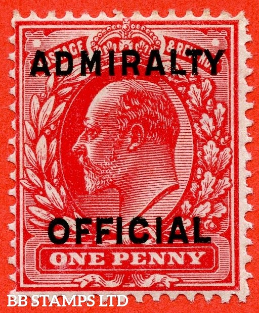 SG. 0108. MO37. 1d scarlet. Admiralty Official Type II. A Very fine UNMOUNTED MINT example.