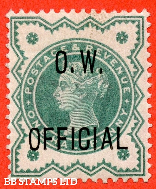 "SG. 032. L32. ½d blue - green. "" O.W. OFFICIAL "". An average mint example complete with BPA certificate."