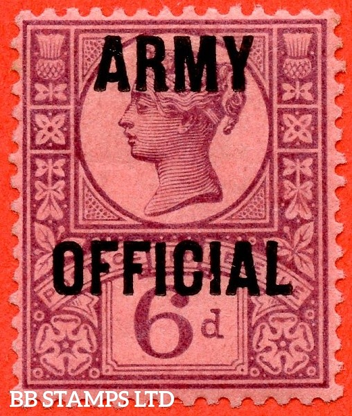 "SG. 045. L40. 6d purple / rose - red. "" ARMY OFFICIAL "". A fine mounted mint example."