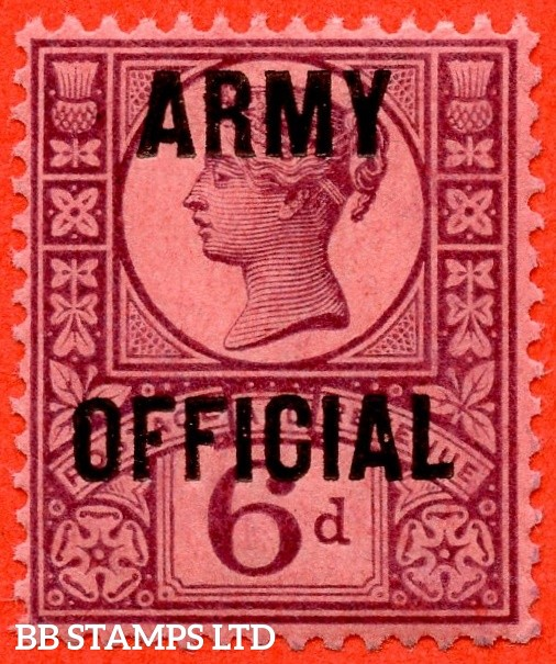 """SG. 045. L40. 6d purple / rose - red. """" ARMY OFFICIAL """". A super UNMOUNTED MINT example."""