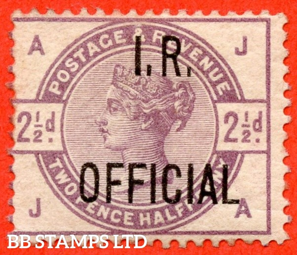 """SG. 06. L4. """" JA """". 2½d Lilac. """" I.R. OFFICIAL """". A fine mounted mint example."""