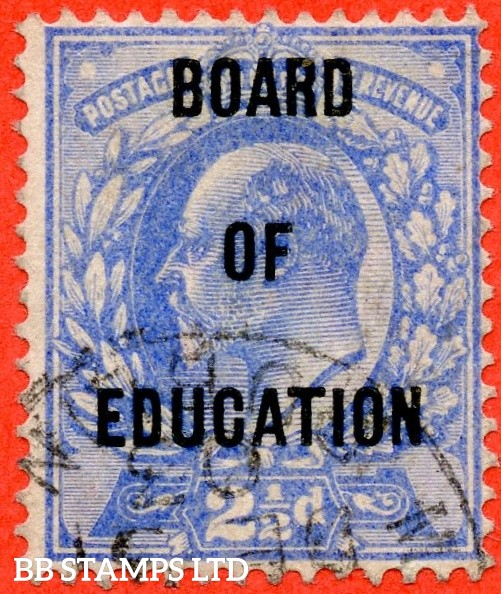 SG. 085. MO25. 2½d ultramarine. BOARD OF EDUCATION. A very fine used example with a lovely clear profile.
