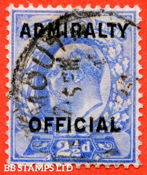 SG. 0111. MO40. 2½d Ultramarine Admiralty official Type II. A very fine used example of this very scarce stamp.