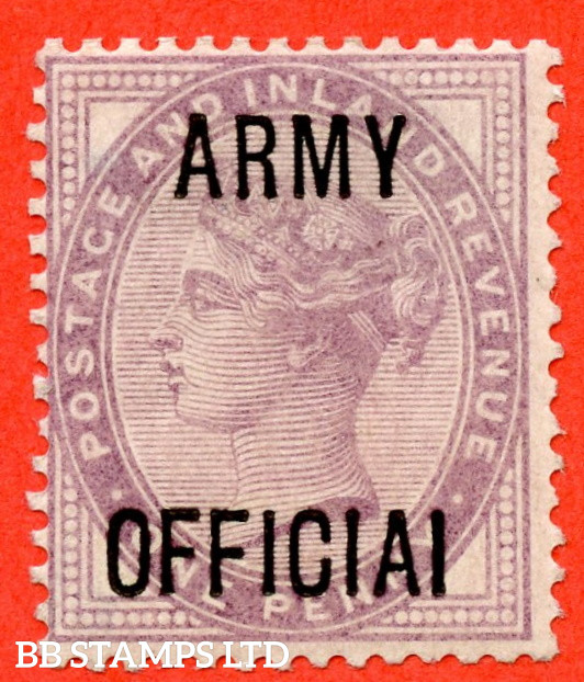 """SG. O43a.L38 c. 1d Lilac. """" ARMY OFFICIAI """". A fine mounted mint example clearly showing the variety."""