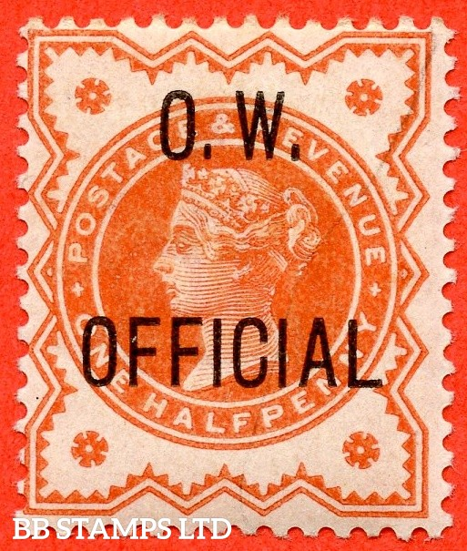 "SG. 031. L31. ½d vermilion. "" O.W. OFFICIAL "". A fine mounted mint example."