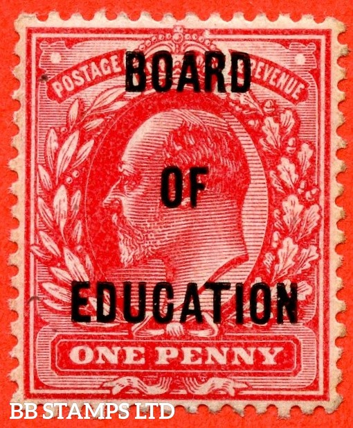 SG. 084. MO24. 1d scarlet. BOARD OF EDUCATION. A very fine UNMOUNTED MINT example of this difficult Official.