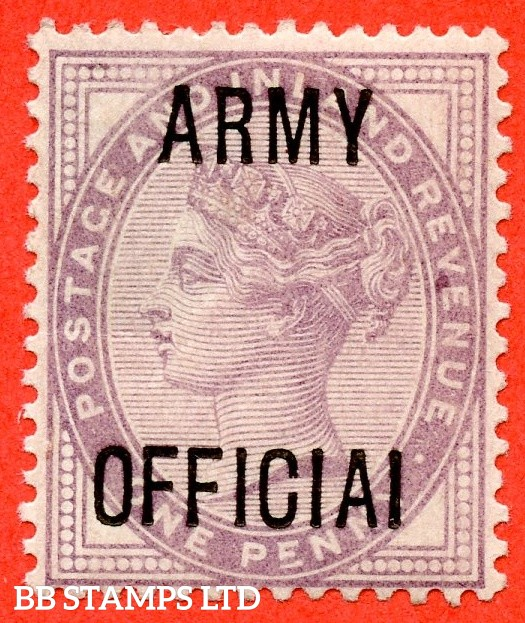 "SG. 043 a.L38 c. 1d Lilac. "" ARMY OFFICIAI "". A mounted mint example clearly showing the variety."