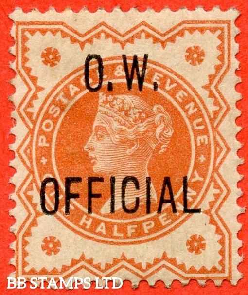 "SG. 031. L31. ½d vermilion. "" O.W. OFFICIAL "". An average mint example."