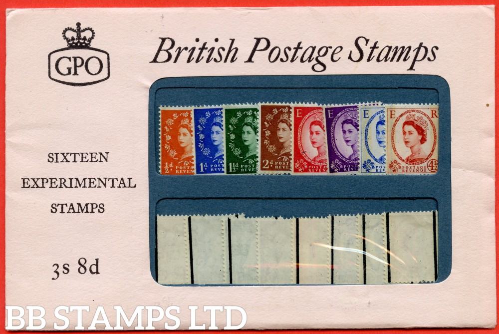 SG. 599 - 609. 1960 Phosphor Graphite Pack. UK edition. A very fine example of this scarce early forerunner Presentation Pack.