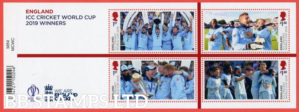 2019 Men's Cricket World Cup Winners Minisheet - WITH BARCODE
