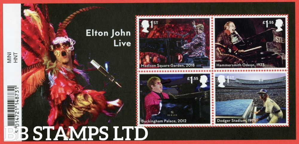 2019 Elton John Minisheet - WITH BARCODE. 3.9.19