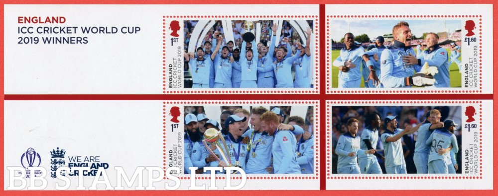2019 Men's Cricket World Cup Winners Minisheet - NO BARCODE ( PACK: Contains Women's World Cup M/S No Barcode)