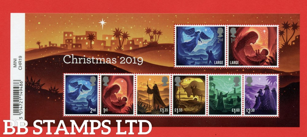 2019 Christmas Minisheet - WITH BARCODE