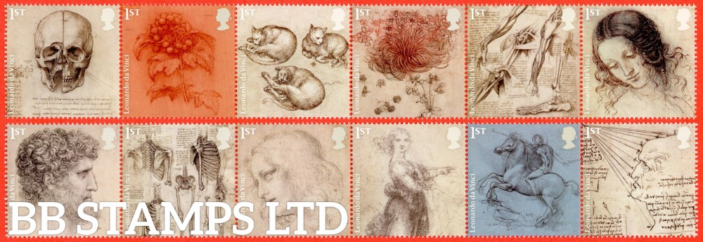 2019 500th Anniversary of Leonardo Da Vinci (Used may be on piece due to them seperating when soaked)