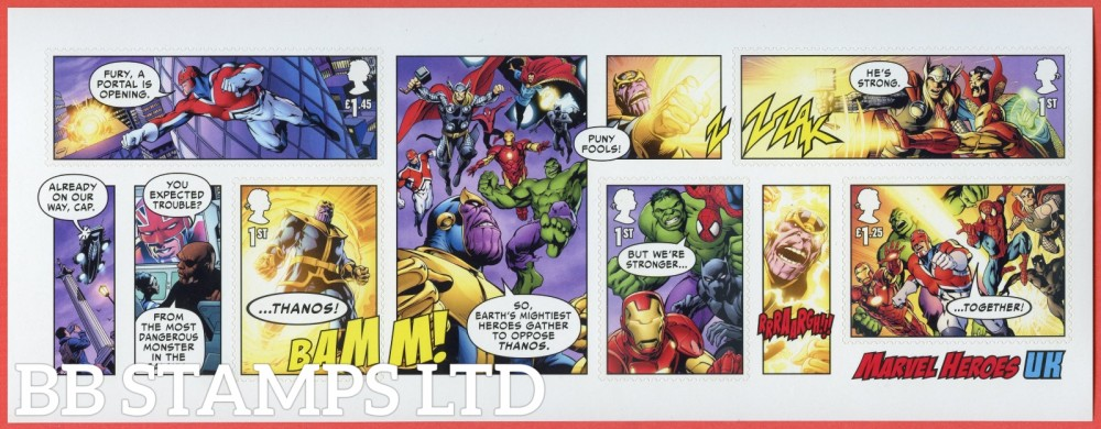 2019 Marvel Iconic Super Heroes Minisheet - WITH BARCODE