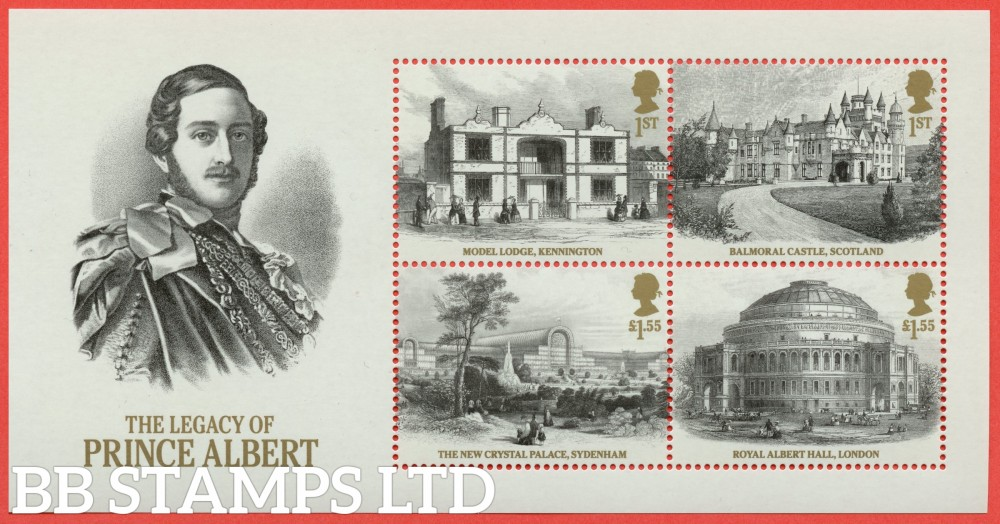 2019 Bicentenary of Queen Victoria - Legacy of Prince Albert Minisheet - NO BARCODE (AVAILABLE FROM: 24/05/19) (Images will be uploaded & orders dispatched on or after day of issue)