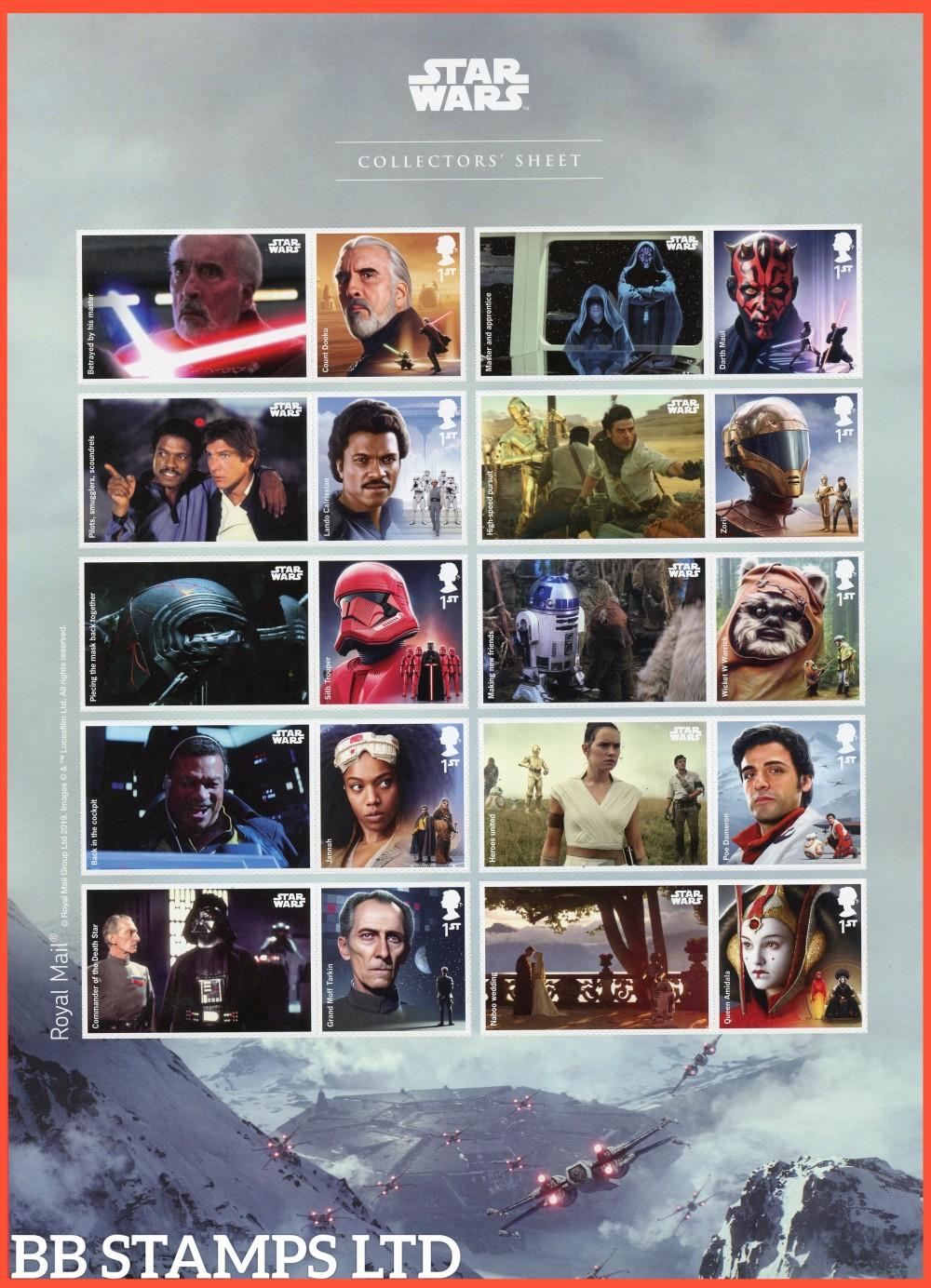 2019 Star Wars Sheet 26.11.19