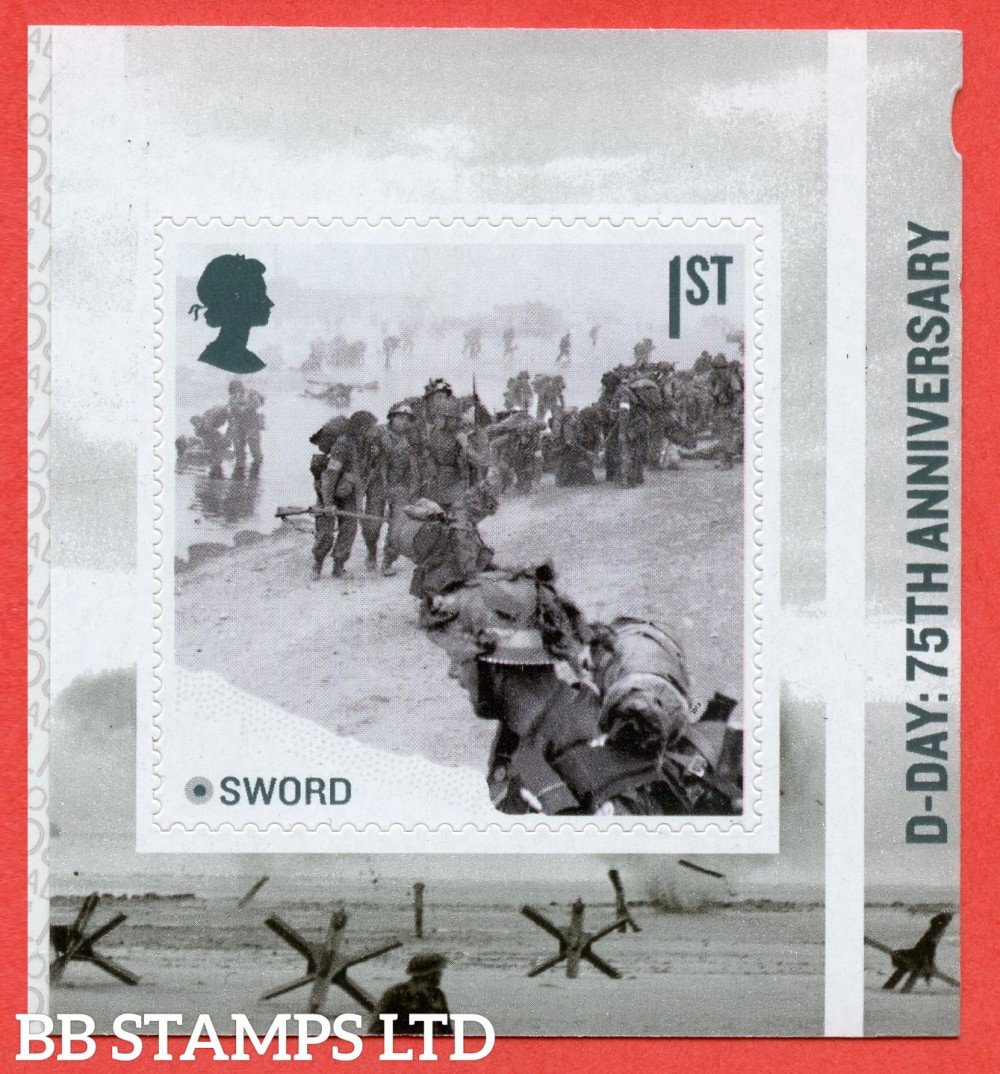 2019 1st Class 75th Anniversary of D-Day - Sword Self Adhesive 6.6.19. (ISSUE DATE: 6.6.19)