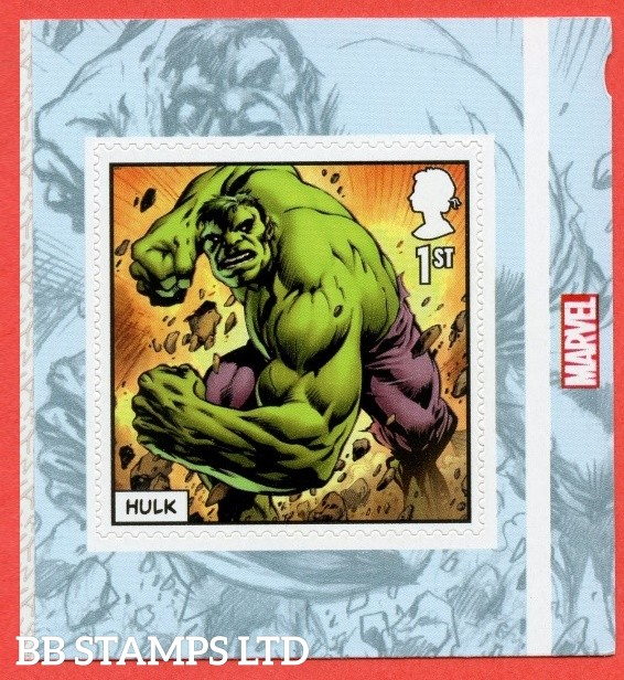 2019 1st Class Marvel Hulk Self Adhesive. (used will be on piece)