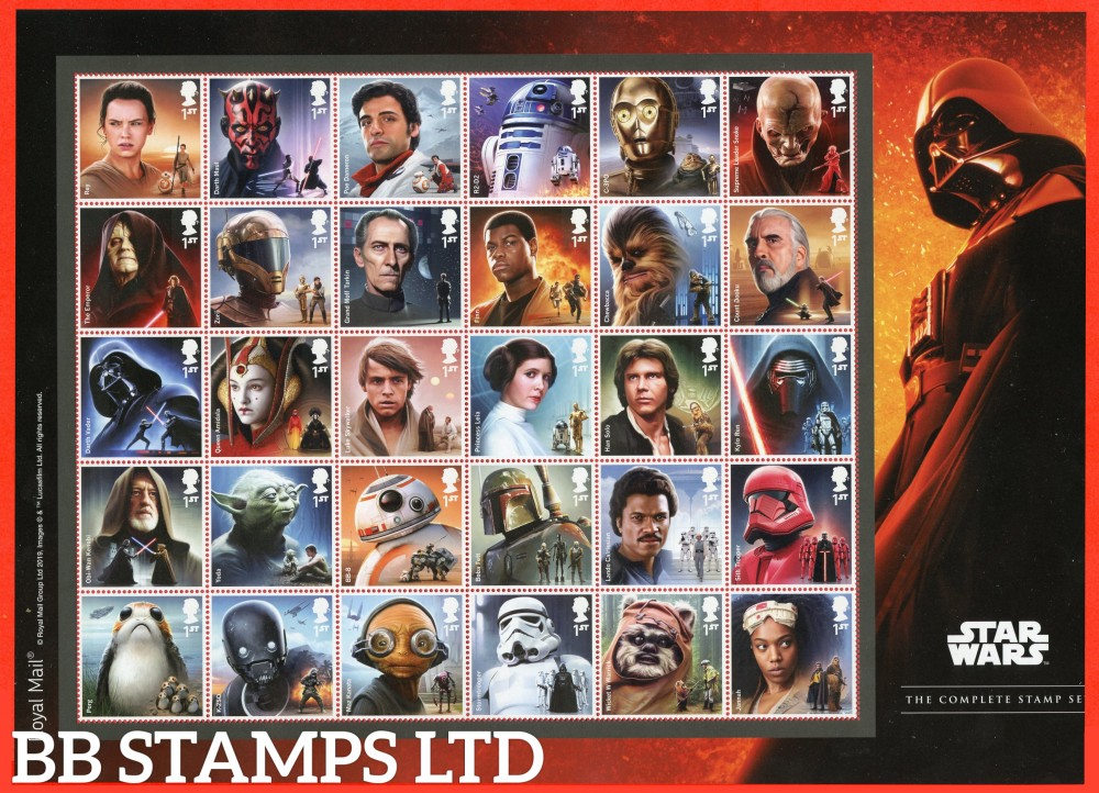 2019 Star Wars Composite Sheet of 30 Stamps 26.11.19