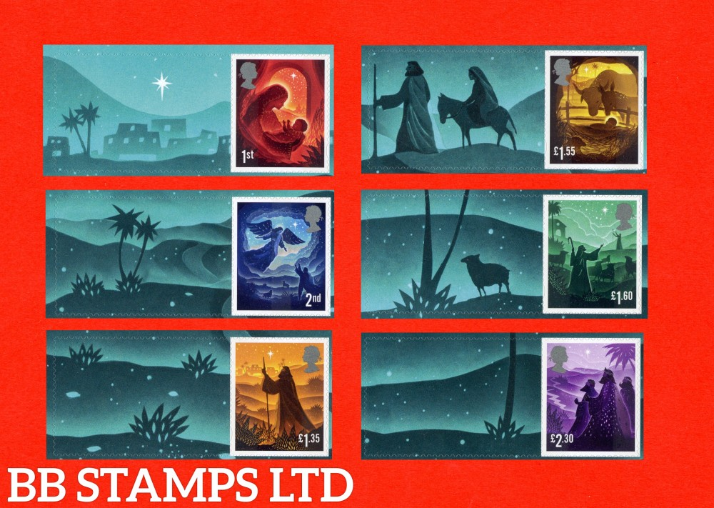 2019 Christmas Smiler set of 6 stamps with labels 5.11.19