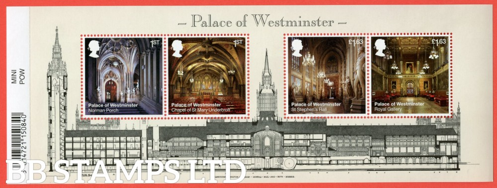 2020 Palace of Westminster Minisheet  30.07.20 WITH BARCODE