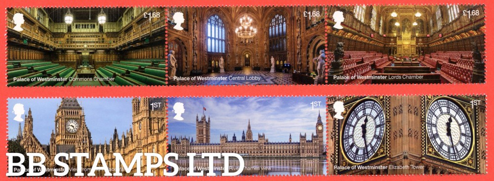 2020 Palace of Westminster- 30.7.20  (Please Note: Newer issues VFU maybe on piece due to them separating when soaked)