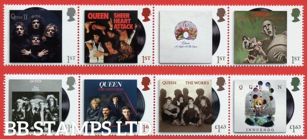 2020 Queen - (strip 4 x 1st and 4 x £1.63) 09.07.20  (PACK: Contains Queen M/S No Barcode)