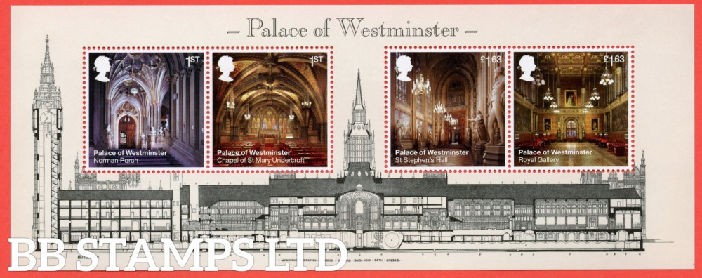 2020 Palace of Westminster Minisheet  30.07.20 WITHOUT BARCODE