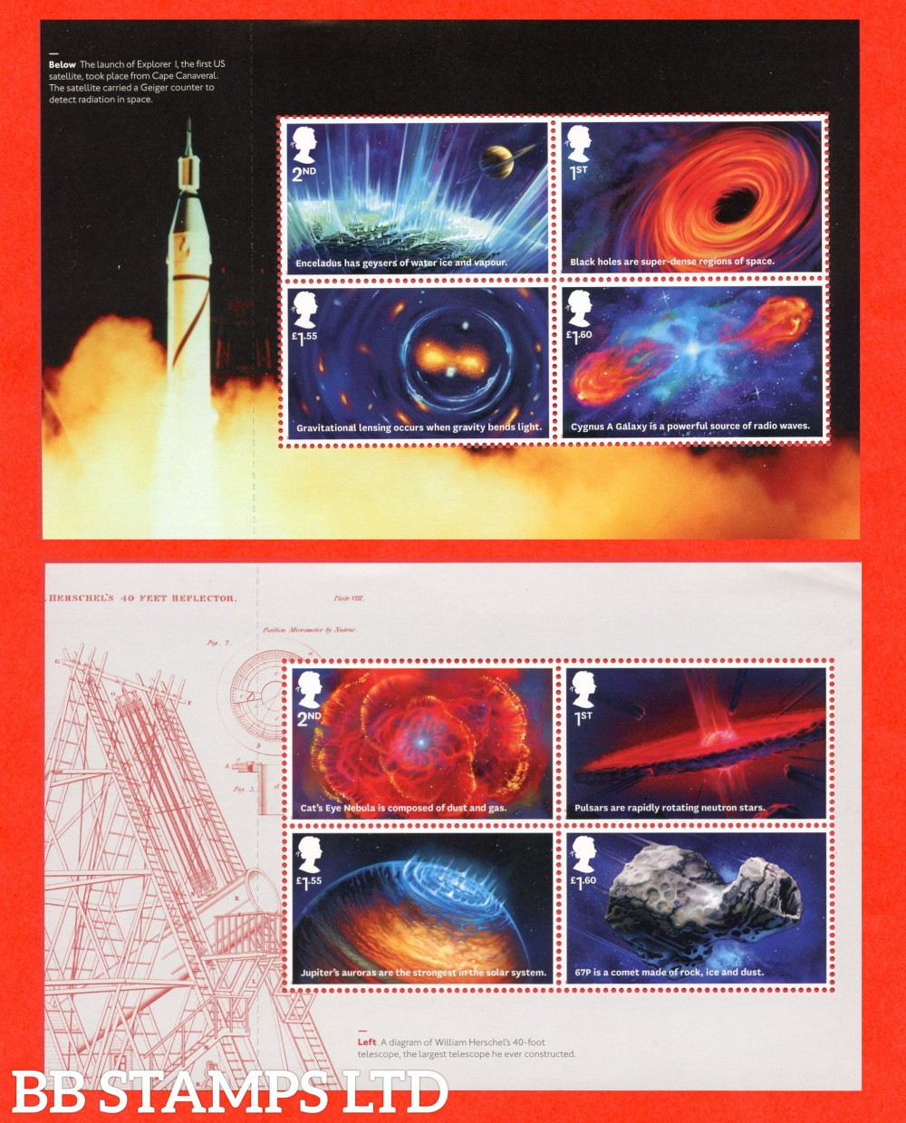 2020 Visions of the Universe (2nd Issue) Pane 1&3 from DY32