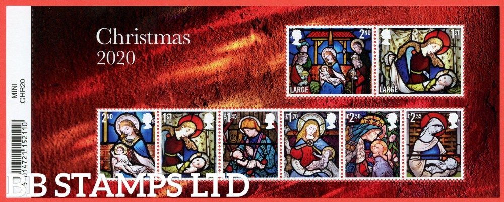 2020 Christmas Minisheet - WITH BARCODE (FDC has NO BARCODE) (3.11.20)